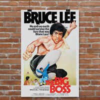 Bruce Lee The Big Boss Martial Arts Movie Poster Giclee' Art Print