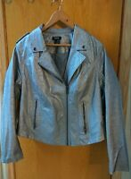 """VERY COOL Torrid silver siz 2 jacket  with the back """"scooped"""" up, no tears"""