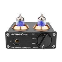 AIYIMA HIFI Tube MM Phono Preamp Mini Stereo 6J2 Tube Preamplifier Turntable