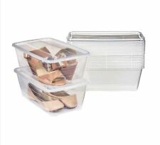 Stackable Clear Case Shoe Boot Storage Organizer Plastic Transparent Box 12 pcs