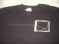 """MENS L """"NINE INCH NAILS T SHIRT"""" Band Music Black Tee, New With Defects"""