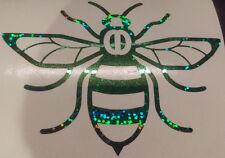 Manchester Bee car van window sticker decal vinyl  glitter green