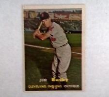1957 Jim Bushy Topps #309 Cleveland Indians Outfielder EX-EX+