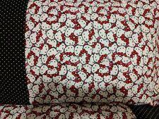Hello Kitty red black pattern 100% new Cotton handmade Pillowcase one pair