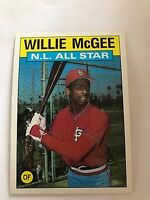 1986 Topps Willie McGee St Louis Cardinals #707