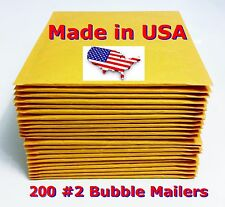 "200 #2 8.5x12 Bubble Mailers Padded Envelopes Bags 8.5"" x 12"" USA FREE SHIPPING"