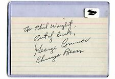 Autographed Signed George Connor Bears Hof Index Card jhaut