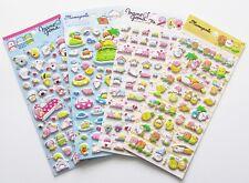 Mamegoma baby seals cute kawaii kitsch puffy 3D stickers