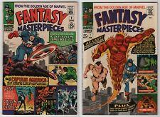 Fantasy Masterpieces #3 VF 8.0 & #7 VF/NM 9.0 lot of 2 GA Captain America 1966