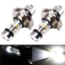 2x Car H4 9003 HB2 100W 8000K Hi/Lo Beam 20LED Fog Light Driving DRL Lamp White