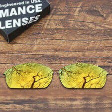 T.A.N Polycarbonate Replacement Lenses for-Oakley Flak Jacket - Gold Mirrored