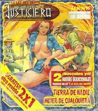 *LA LEY DEL OESTE JUSTICIERO*  NO MAN'S LAND WOMEN OF ANY  MEXICAN COMIC SEXY #5