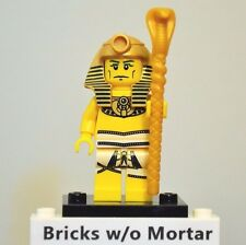 New Genuine LEGO Pharaoh Minifig with Staff Series 2 8684