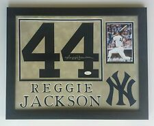 Reggie Jackson Signed Autographed Jersey Number New York Yankees Framed JSA