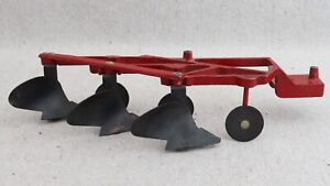 Vintage 60s 70s Ertl Massey Ferguson Intl Harvester 3 Bottom Tractor Plow 1/16