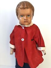 """Rare Antique 18� Celluloid Boy Doll Molded Hair Kid Body Marked """"Made in Usa�"""