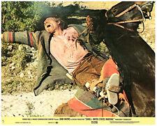Cahill United States Marshall original lobby card Neville Brand gets shot