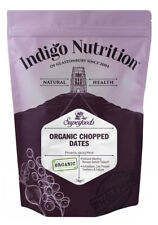Indigo Herbs Organic Dried Date Pieces 250g, 1kg Rolled in rice flour