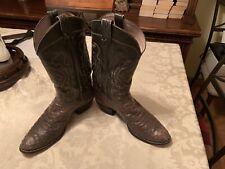 mens tony lama boots 12b Ostrich Grey