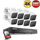 ANNKE Ultra 8MP 4K 8CH DVR IP67 Security Camera Surveillance System HDMI 4TB HDD