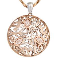 Runde Halsketten und Anhänger aus Weißgold mit Diamanten