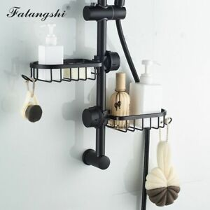Bathroom Shelf Basket Caddy Shower Pole Rack Organizer Metal Aluminum