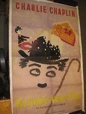 Original vintage poster GOLD RUSH CHARLIE CHAPLIN La Ruee Vers L'or Leo Kouper