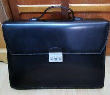 Calvin Klein Black Leather Bag / Briefcase / Laptop Bag