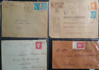 France French 1940 's 4 Covers Registered Bar Le Duc Front Only