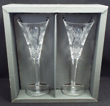 Waterford Crystal Millennium 2 Prosperity Champagne Toasting Flutes, with box
