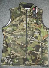 UNDER ARMOUR Men's XL Fitted Cold Gear Forest Camo Vest Scent Control NEW NWT