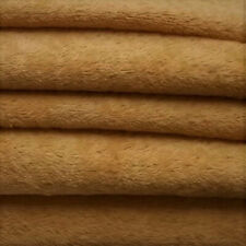 "1/4 yd Vis1 Antq Honey Intercal 6mm ""Flat"" Med. Dense German Viscose Fur Fabric"