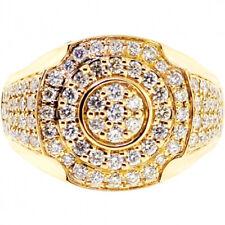 Wedding Ring For Men Size Us 9 1.65Ct Natural Round Diamond 14K Yellow Gold