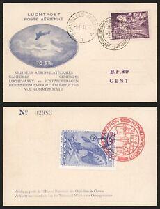 Belgium 1946 - Commemorative Postcard Ghent - Aviation C383