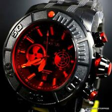 Invicta Coalition Forces Sonar Radar Black Stainless Steel Red 58mm Chrono New