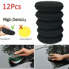 12PCS Black Foam Sponge Polish Wax Applicator Car Detailing Cleaning Pad