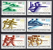 DDR 1988 Mi. Nr. 3183-3188 Postfrisch ** MNH