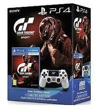 SONY GRAN TURISMO SPORT + PS4 DUALSHOCK 4 SILVER LIMITED EDITION BUNDLE