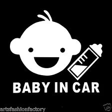 Baby in Car Baby Safety Sign White Car Vinyl Sticker Window Decal Decor