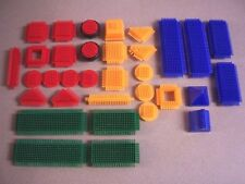 Bristle Blocks 33 Piece Lot in 4 Colors w/ Storage Case EUC!