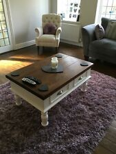 Farmhouse COFFEE TABLE Rustic Shabby chic Farrow and Ball OAK PINE Side Table