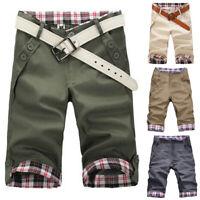 Summer Mens Cargo Pants Baggy Shorts Pockets Short Pants Checks Trousers New #CA