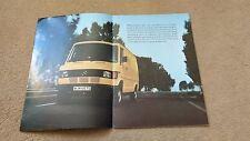 Mercedes Benz Light Vans Brochure - 1981 Leaflet - 207 307D 308