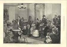 1875 Hotel Life In America Sunday Evening