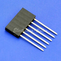 10x 6 Pin Single Row 15mm Tall Header Socket Connector for Arduino, Pitch 2.54mm