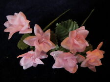 "Millinery Flower Doll Size 1"" Soft Pink 2pc Lot for Hat Wedding or Hair Y221"