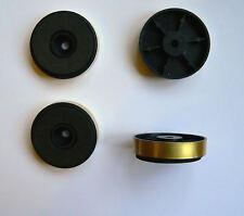 Bajo perfil 40mm oro Pies X 4 para gabinete de amplificador de alta fidelidad