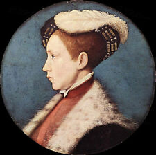 Art oil painting Holbein Hans - Edward Prince of Wales Young boy portrait canvas