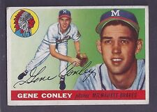 1955 Topps #81 Gene Conley Pitcher Milwaukee Braves VG-EX Plus
