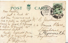 Genealogy Postcard - Husband - Emma Place - Stonehouse - Plymouth - Ref 3859A